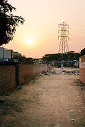 A New Dehli sunset.