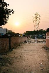 A New Dehli sunset.