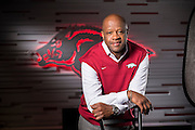 Head Basketball Coach of the Arkansas Razorbacks Mike Anderson in Fayetteville shot for Sells Agency and Fayetteville Advertising and Promotions