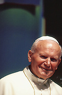Pope John Paul II at the World Youth Day in Denver Colorado in August 1984..Photograph by Dennis Brack BBBs 20