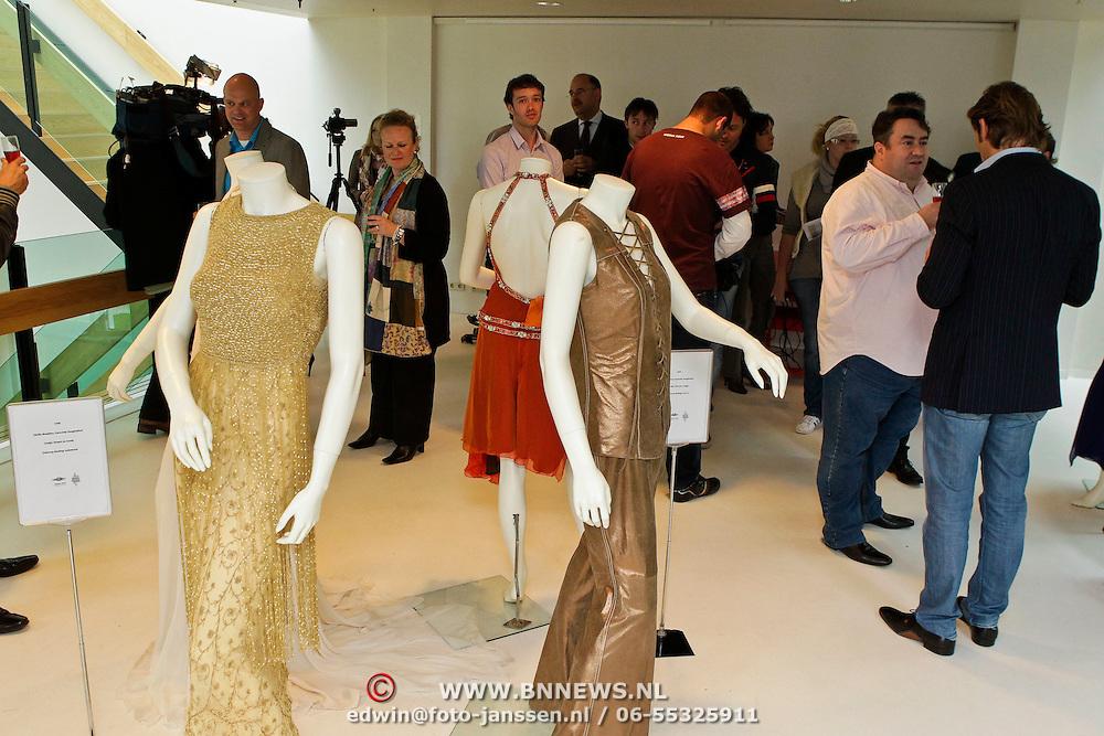 NLD/Amsterdam/20100512 - Opening expositie songfestivaljurken getiteld 'May we have your dress please?! , overzicht van diverse jurken