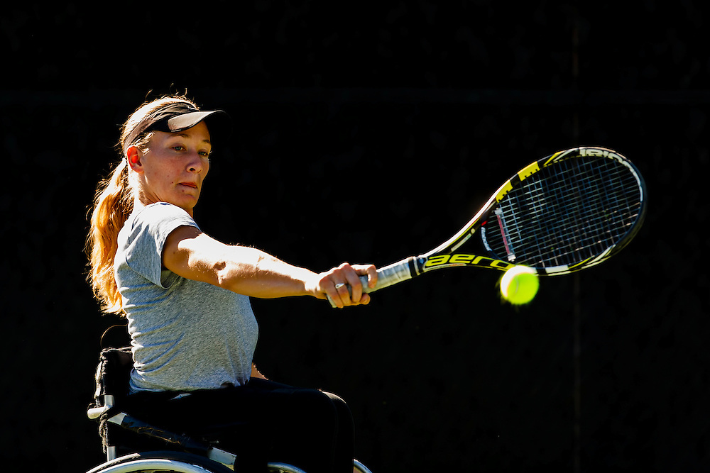 161103 Wheel chair tennis, UNIQLO Wheelchair, Doubles Master<br /> Emmy Kaiser, Fort Mitchell, USA.<br /> &copy; Daniel Malmberg/Sports Shooter Academy 13