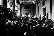 Italian and International press attends the political talks at Quirinale palace in Rome on  5 April 2018. Christian Mantuano / OneShot