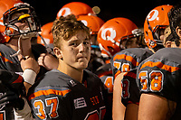 KELOWNA, BC - AUGUST 3:   Brody Mcpherson #37 of Okanagan Sun stands on the sidelines against the Kamloops Broncos at the Apple Bowl on August 3, 2019 in Kelowna, Canada. (Photo by Marissa Baecker/Shoot the Breeze)