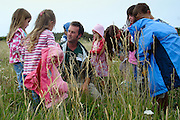 Ranger-led outdoor children's event at Durlston Country Park. Swanage, Dorset, UK.