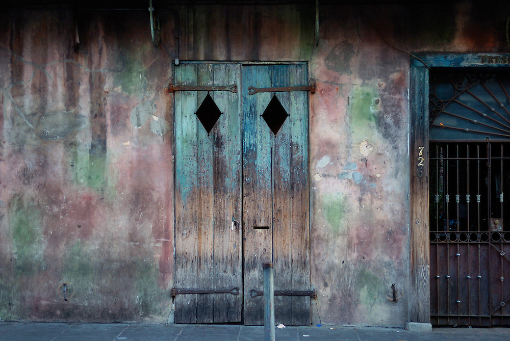 This is the front of Preservation Hall in the French Quarter of New Orleans. ©Kathy Anderson, All Right Reserved