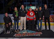KELOWNA, CANADA - NOVEMBER 17:  Hall of Fame Inductees at the Kelowna Rockets game on November 17, 2017 at Prospera Place in Kelowna, British Columbia, Canada.  (Photo By Cindy Rogers/Nyasa Photography,  *** Local Caption ***