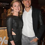 NLD/Amsterdam/20160202 - Uitreiking 100% NL Awards 2015, Pim Wessels en partner Pip Pellens