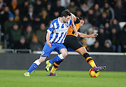 Brighton winger, Jamie Murphy (15) during the Sky Bet Championship match between Hull City and Brighton and Hove Albion at the KC Stadium, Kingston upon Hull, England on 16 February 2016.