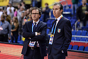 DESCRIZIONE : Berlino Berlin Eurobasket 2015 Group B Germany Germania - Italia Italy<br /> GIOCATORE : Simone Pianigiani Mario Fioretti<br /> CATEGORIA : Allenatore Coach Before Pregame<br /> SQUADRA : Italia Italy<br /> EVENTO : Eurobasket 2015 Group B<br /> GARA : Germany Italy - Germania Italia<br /> DATA : 09/09/2015<br /> SPORT : Pallacanestro<br /> AUTORE : Agenzia Ciamillo-Castoria/M.Longo
