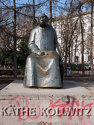 Statue of Kathe Kollwitz in Prenzlauer Berg district of Berlin Germany 2009