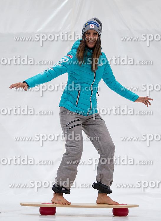 10.10.2015, Olympia Eisstadion, Innsbruck, AUT, OeSV Einkleidung Winterkollektion, während der Einkleidung der ÖSV- Mannschaften am Samstag, 10. Oktober 2015, in Innsbruck, im Bild Julia Dujmovits // during the Outfitting of the Ski Austria Winter Collection at the Olympia Eisstadion in Innsbruck, Austria on 2015/10/10. EXPA Pictures © 2015, PhotoCredit: EXPA/ Johann Groder