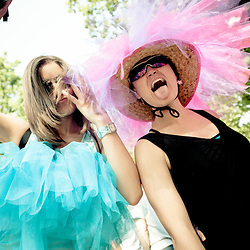 Jennifer Mueller and MK show some tulle spirit in the Dance Forest.
