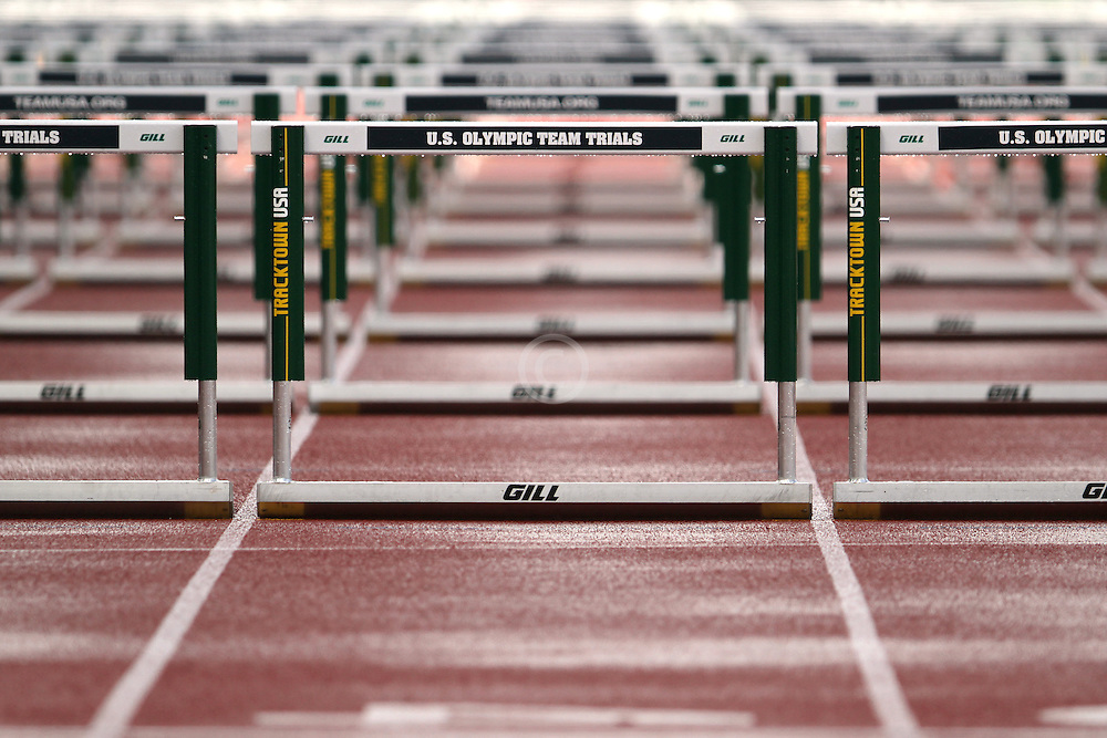 Olympic Trials Eugene 2012: hurdles, rain