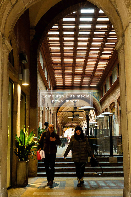 A restaurant in the Via Marchesana, Bologna, Italy<br /> <br /> (c) Andrew Wilson | Edinburgh Elite media
