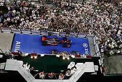 Motorsports / Formula 1: World Championship 2010, GP of Abu Dhabi, 01 Jenson Button (GBR, Vodafone McLaren Mercedes), 05 Sebastian Vettel (GER, Red Bull Racing), 02 Lewis Hamilton (GBR, Vodafone McLaren Mercedes),