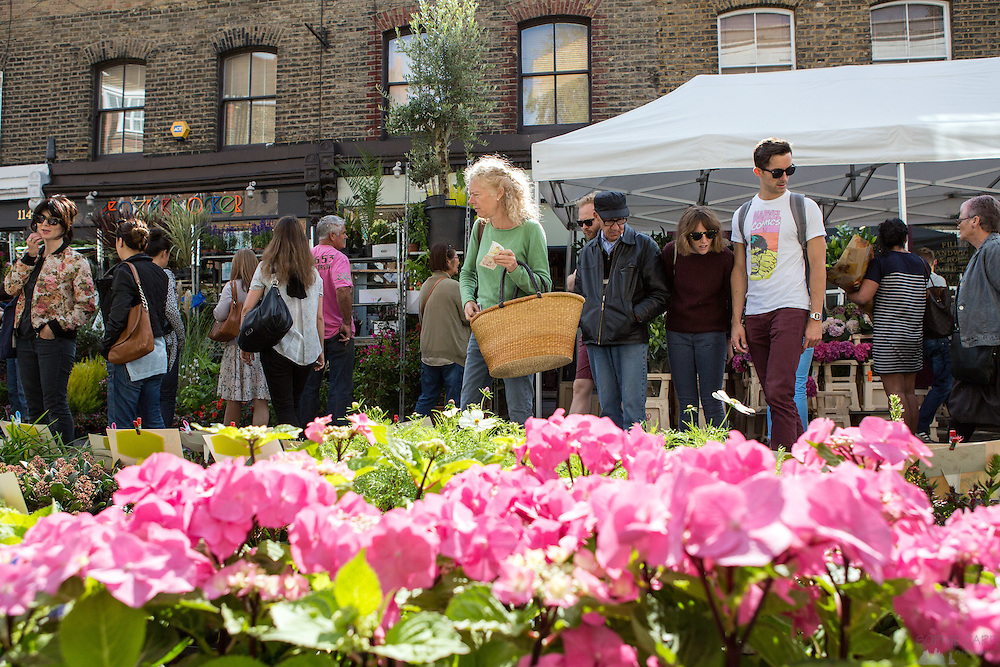 Columbia Road Flower Market, held every Sunday