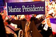 Marine Le Pen en meeting banquet a Palavas les flots le 15 mars 2012