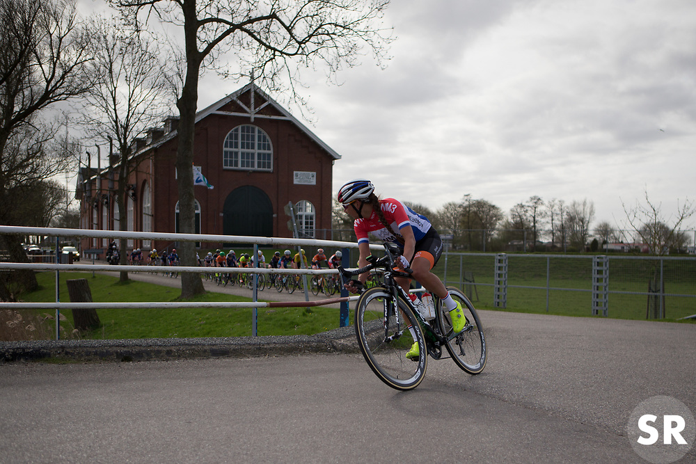 Anouska Koster (NED) of Team NL tries to bridge the gap during Stage 1b of the Healthy Ageing Tour - a 77.6 km road race, starting and finishing in Grijpskerk on April 5, 2017, in Groeningen, Netherlands.