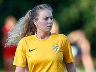 FODBOLD: Caroline Kejlstrup (Ølstykke FC) under træningskampen mellem Ølstykke FC og BSF den 10. august 2017 på Ølstykke Idrætsanlæg. Foto: Claus Birch