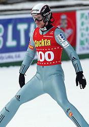 Primoz Peterka of  SK Triglav, second place at Slovenian National Championship in Ski Jumping on February 12, 2008 in Kranj, Slovenia . (Photo by Vid Ponikvar / Sportal Images).