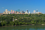 Edmonton skyline and North Saskatchewan River looking westerly<br /> Edmonton<br /> Alberta<br /> Canada