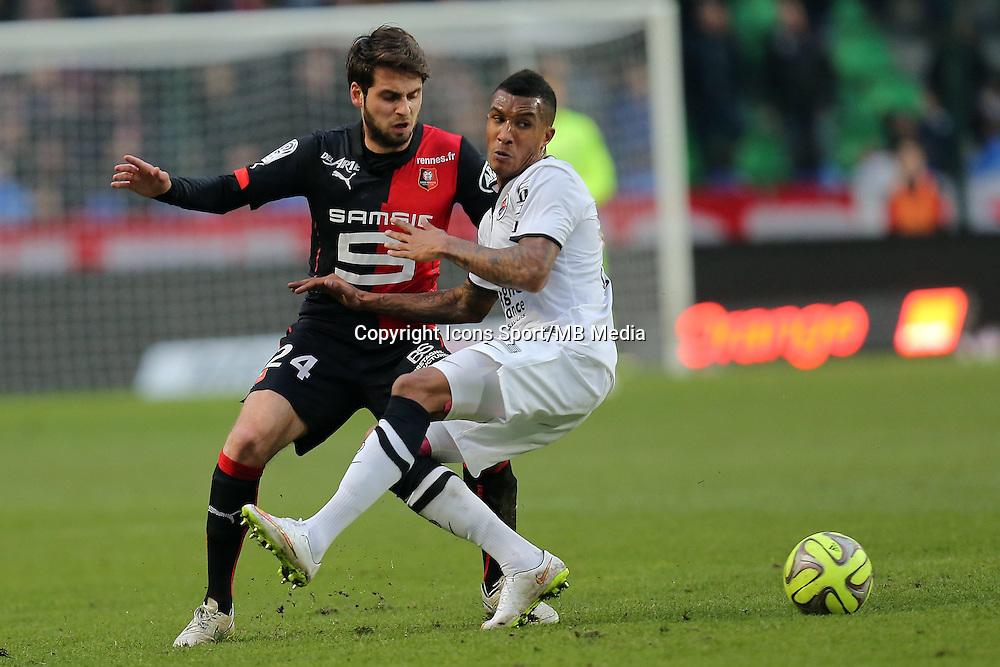 Emmanuel IMMOROU / Sanjin PRCIC  - 25.01.2015 - Rennes / Caen  - 22eme journee de Ligue1<br /> Photo : Vincent Michel / Icon Sport *** Local Caption ***