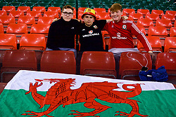 CARDIFF, WALES - Thursday, October 11, 2018: Wales supporters before the International Friendly match between Wales and Spain at the Principality Stadium. (Pic by Lewis Mitchell/Propaganda)