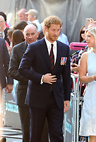 Prince Harry, Dunkirk - World film premiere, Leicester Square Gardens, London UK, 13 July 2017, Allied soldiers from Belgium, the British Empire, Canada, and France are surrounded by the German army and evacuated during a fierce battle in World War II.