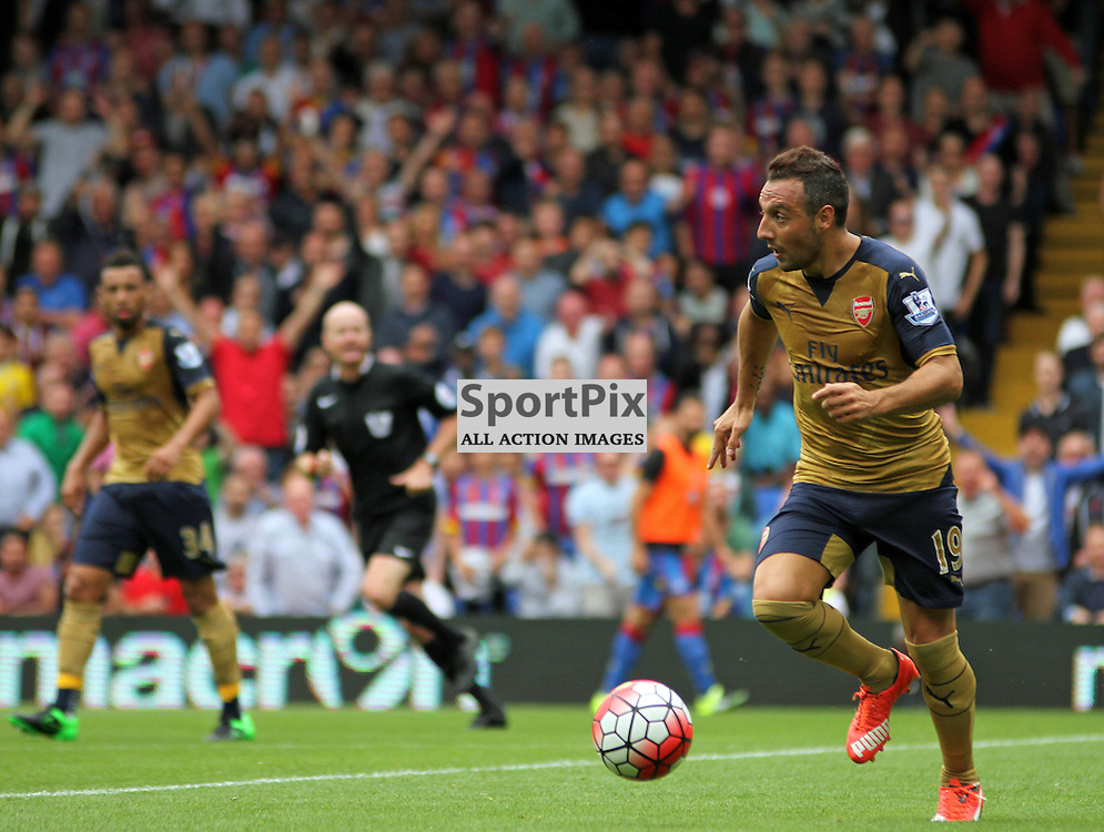 Santi Cazorla of Arsenal on the ball During Crystal Palace vs Arsenal on Sunday the 16th August 2015.