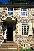 Image of George Washington's home at Valley Forge National Historical Park, Pennsylvania, American Northeast