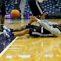 December 17, 2011; New Orleans, LA, USA; New Orleans Hornets black team point guard Jarrett Jack (2) passes from the floor during a scrimmage at the New Orleans Arena.   Mandatory Credit: Derick E. Hingle-US PRESSWIRE