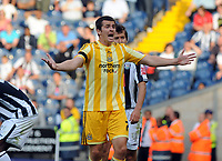 The Hawthorns West Bromwich Albion v Newcastle United (1-1) Championship 08/08/2009<br /> Joey Barton (Newcastle) appeals in vain <br /> Photo Roger Parker Fotosports International