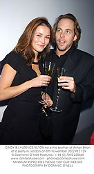 CINDY & LAURENCE BILTON he is the brother of Anton Bilton, at a party in London on 6th November 2002.PEZ 129