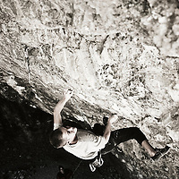 Rock Climber on Limestone