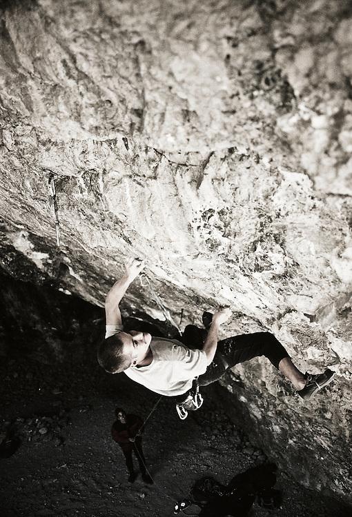 Rock Climber on Limestone