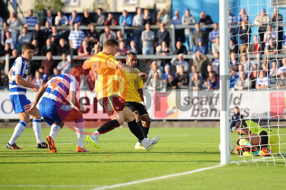 James Clarke of Bristol Rovers takes a shot at goal - Mandatory by-line: Dougie Allward/JMP - 21/07/2015 - SPORT - FOOTBALL - Bristol,England - Memorial Stadium - Bristol Rovers v Reading - Pre-Season Friendly