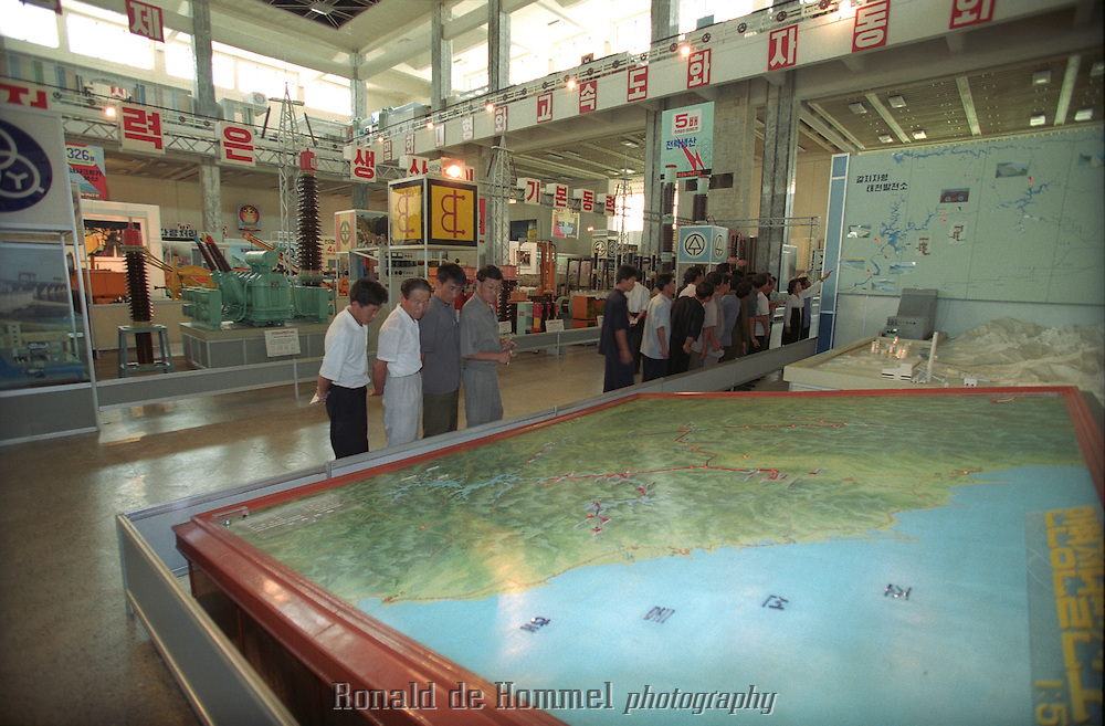 Technology museum in Pyongyang, North Korea, july 2001.