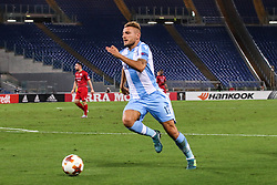September 28, 2017 - Rome, Italy - ROME, ARNHEM - SEPTEMBER 28: Ciro Immobile of SS Lazio actions during the UEFA Europa League group K match between SS Lazio and SV Zulte Waregem at Olimpico Stadium on September 28, 2017 in Rome, Italy. (Credit Image: © Cosimo Martemucci/Pacific Press via ZUMA Wire)
