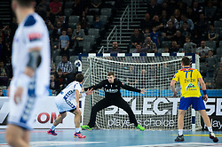 Urban Lesjak of RK Celje Pivovarna Lasko during EHF Champions eague 2016/17 handball match between HC Prvo Plinarsko Drustvo Zagreb and RK Celje Pivovarna Lasko, on March 9th, 2017 in Arena Zagreb, Croatia. Photo by Martin Metelko / Sportida
