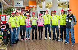 Mitja Racecic, Peter Dokl,  Lenart Oblak, Andreja Mali, Teja Gregorin, Anja Erzen, Jakov Fak,   Simon Kocevar, Klemen Bauer and Uros Velepec during press conference of Slovenia Biathlon team for season 2013/14 on October 1, 2013 in BTC, Ljubljana, Slovenia. (Photo by Vid Ponikvar / Sportida.com)