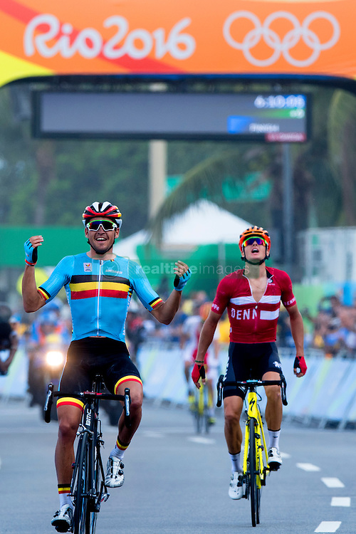 Greg van Avermaet of Belgium celebrates winning the gold medal in the Men s Road  Race on. 82789ca5f