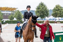 BREDOW-WERNDL Jessica von (GER), Zaire-E<br /> Aachen - CHIO 2018<br /> Abreiteplatz Vorbereitung zum Grand Prix Special<br /> 20. Juli 2018<br /> © www.sportfotos-lafrentz.de/Stefan Lafrentz