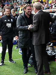 Norwich City manager Daniel Farke (left) and Birmingham City manager Harry Redknapp