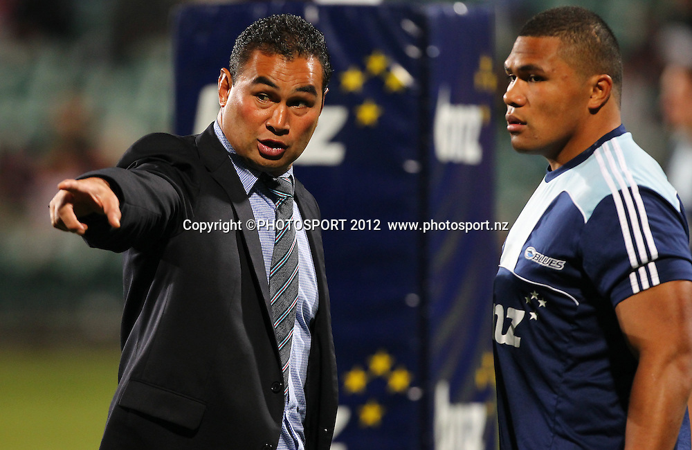 Blues coach Pat Lam during the Super Rugby game between The Blues and The Chiefs, North Harbour Stadium, Auckland, New Zealand, Saturday June 2nd 2012. Photo: Simon Watts / photosport.co.nz