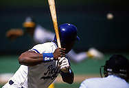 KANSAS CITY, MO-UNDATED:  Bo Jackson of the Kansas City Royals waits for a pitch during a game at Kaufmann Stadium in Kansas City, Missouri.  Jackson played for the Royals from 1986-1990.  (Photo by Ron Vesely)