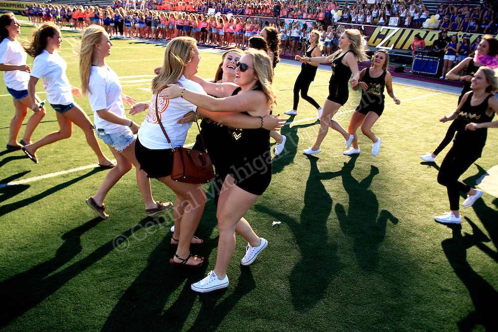 The annual Sorority Jump took place at kelly/shorts stadium photos by Claire Abendroth