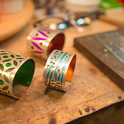Jewelry designer Gogo Borgerding creating in her studio and store in the Lower Garden District in New Orleans. For more information, visit: http://www.ilovegogojewelry.com