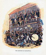 The Election at Eatanswill' an illustration by 'Phiz' (Hablot Knight Browne 1815-1882) for 'Posthumous Papers of the Pickwick Club' by Charles Dickens (London, 1836-1837)