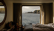 Patagonia, cruising with Ventus Australis. Cape Horn National Park. view from the cabin
